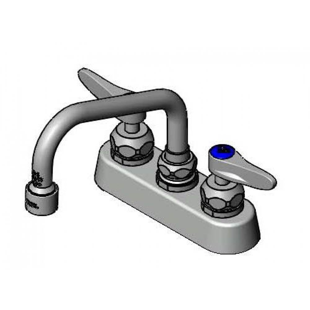 Lever Handles T/&S Brass B-1115-XS Work Board Faucet 4 Centers 2 Shank Wall Mount 6 Swing Nozzle